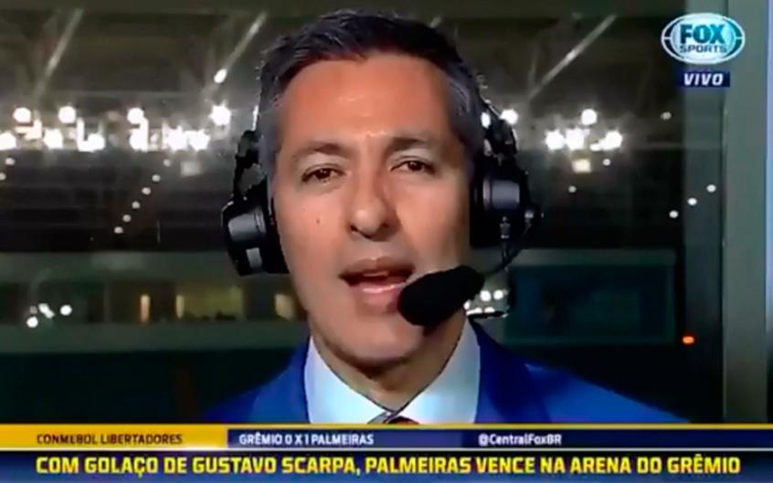 Em áudio vazado, narrador da Fox Sports se irrita durante pós-jogo