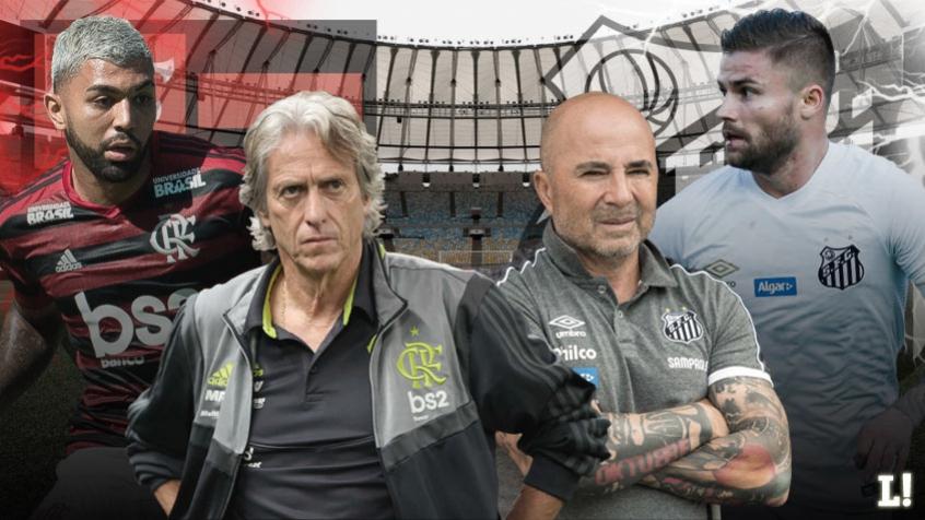 Arte - Flamengo x Santos