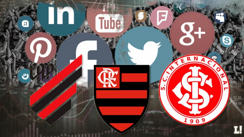 Arte - Mídias Digitais (Flamengo, Athletico-PR e Internacional)