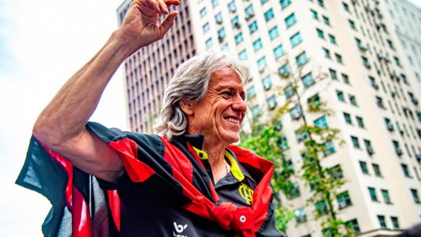 Fiquei feliz, Jorge Jesus comemora título do Flamengo no Brasileirão