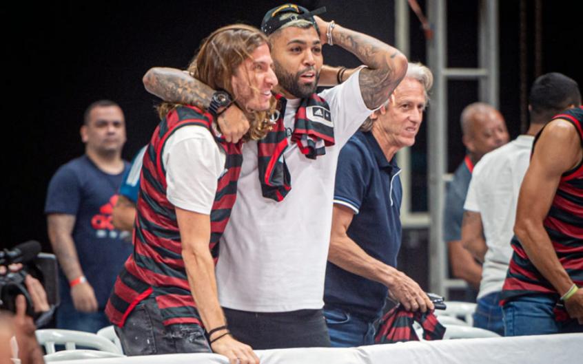 Jesus, Gabigol e Filipe Luís - Flamengo