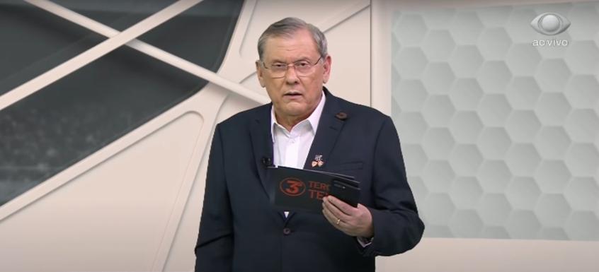 """""""Agora aguenta"""", Milton Neves ironiza pedido do Flamengo para adiar confronto com Palmeiras"""