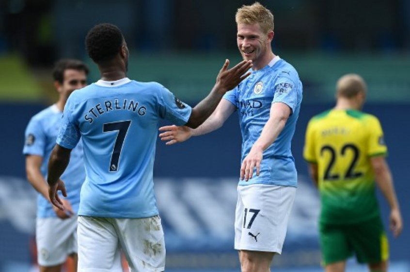 De Bruyne Sterling Manchester City