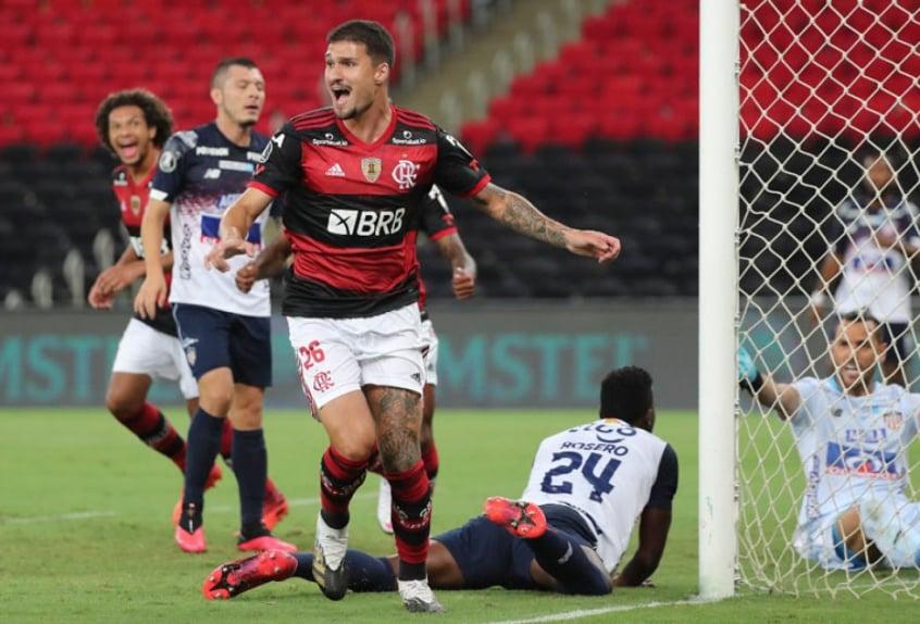 Flamengo x Junior Barranquilla - Comemoração