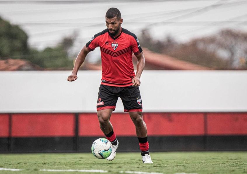 O jogador William Maranhão foi contratado em julho pelo Dragão. Imagem/Reprodução:Heber Gomes/Atlético-GO
