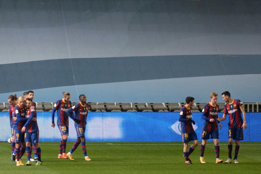 Sem Messi Barcelona Vence A Real Sociedad Nos P U00eanaltis E