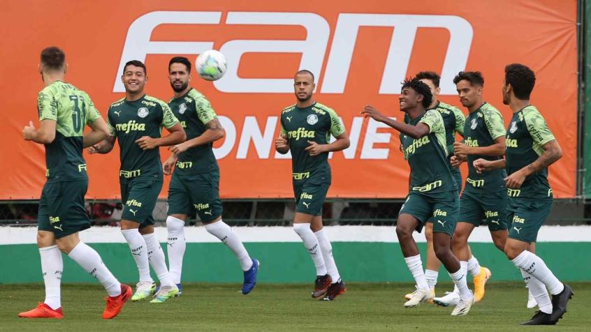 Em treino único, Palmeiras encerra preparativos para encarar o Grêmio; veja provável time
