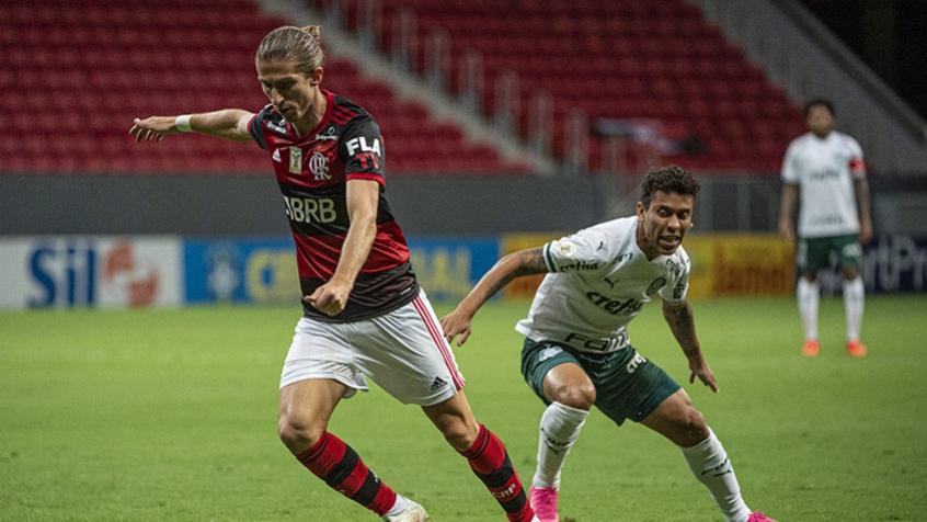 Filipe Luís exalta postura do Flamengo contra o Palmeiras: Time muito mais concentrado e pilhado