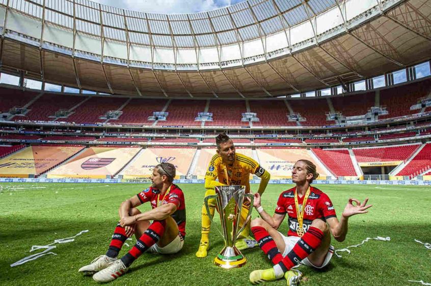 Flamengo na Supercopa do Brasil - Diego Alves, Filipe Luís e Diego Ribas