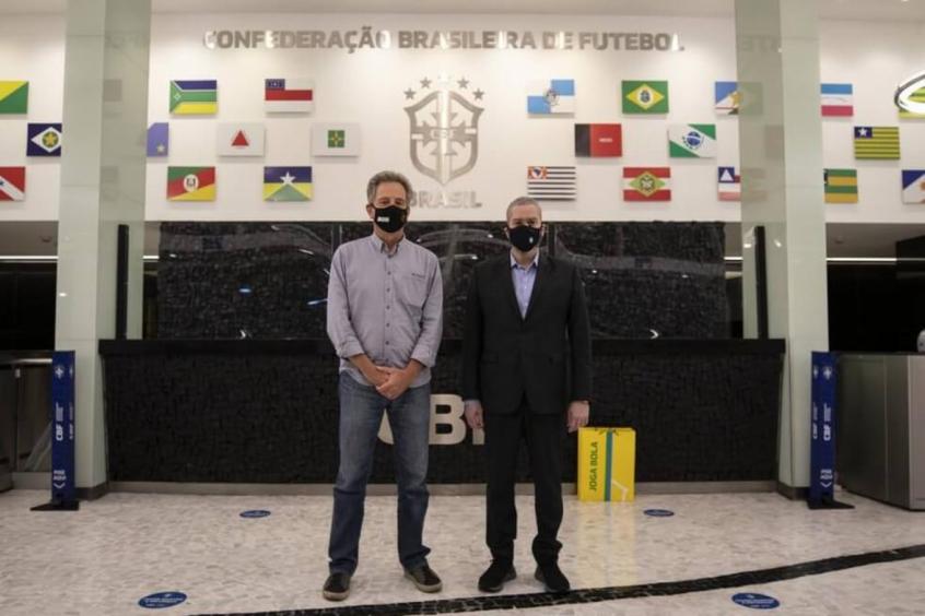 Rodolfo Landim e Rogério Caboclo