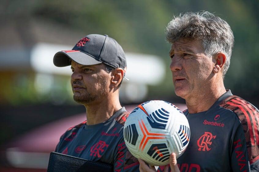 Renato Gaúcho e Alexandre Mendes - Flamengo