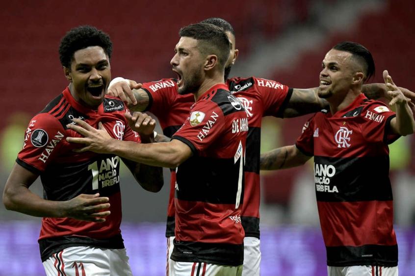 Flamengo x Defensa y Justicia - Vitinho, Arrascaeta e Michael