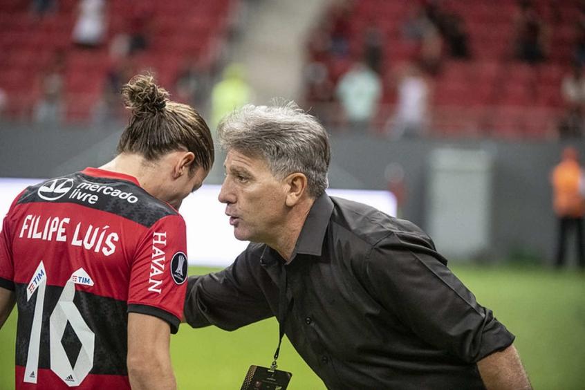Renato Gaúcho e Filipe Luís - Flamengo