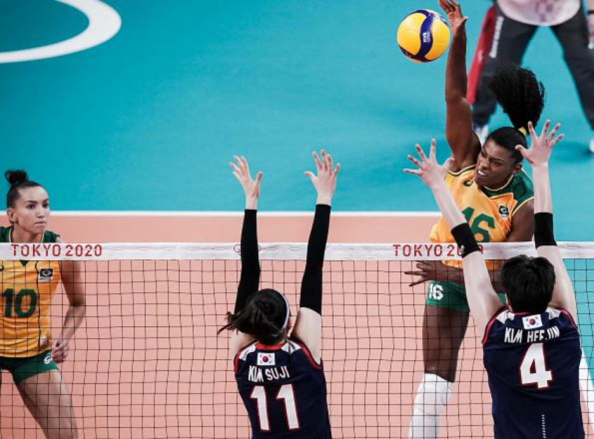 Selecao Feminina De Volei Estreia Com Vitoria Sobre A Coreia Do Sul Nos Jogos Olimpicos De Toquio Lance