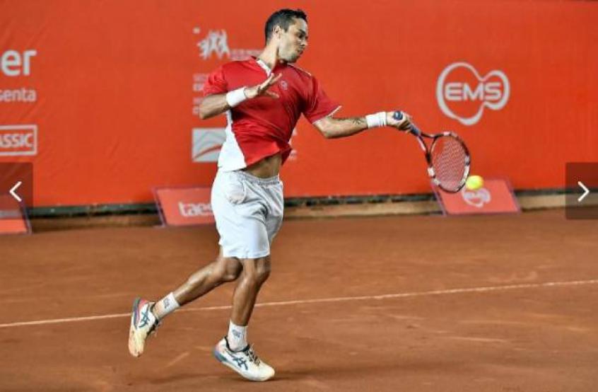 Daniel Silva em ação no ITF de Recife