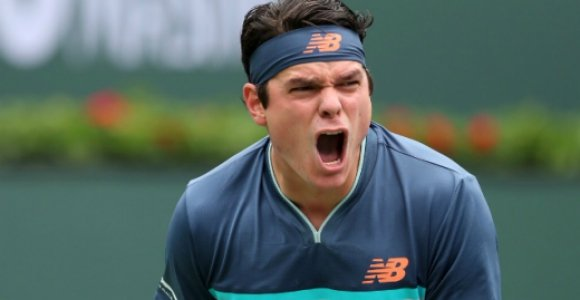 Milos Raonic em Indian Wells 2019