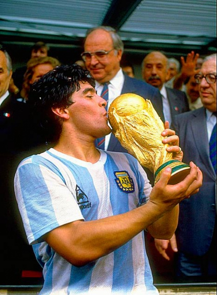 Maradona - Argentina 1986 (Foto: Allsport UK/Allsport)