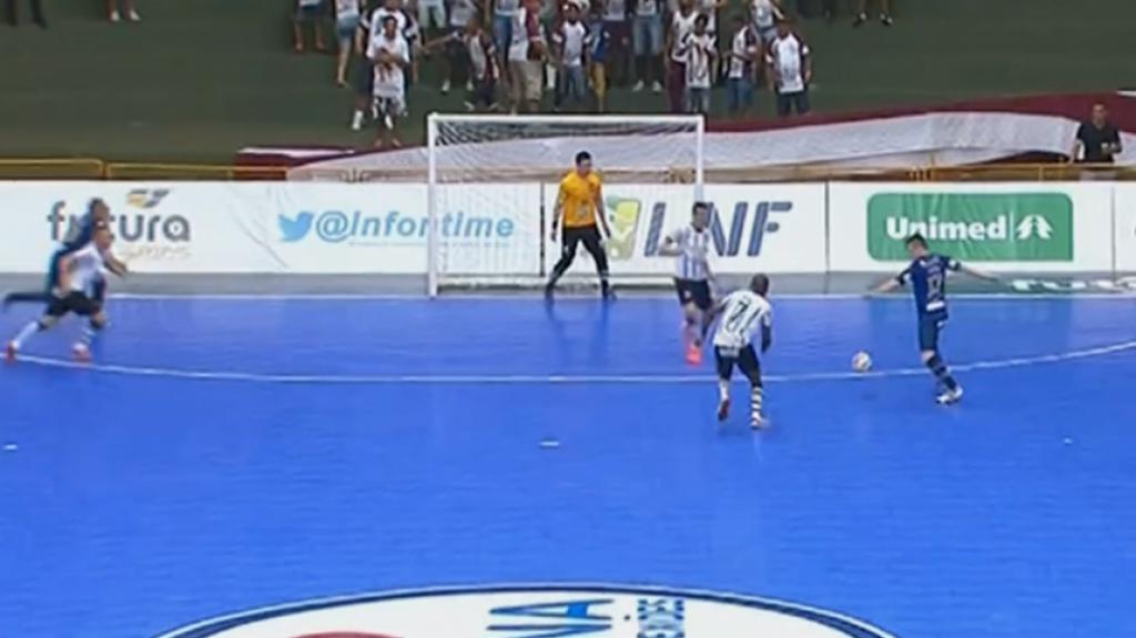 HOME - Intelli/Orlândia x Corinthians - Jogo de volta da semifinal da Liga Futsal (Foto: Reprodução/Sportv)