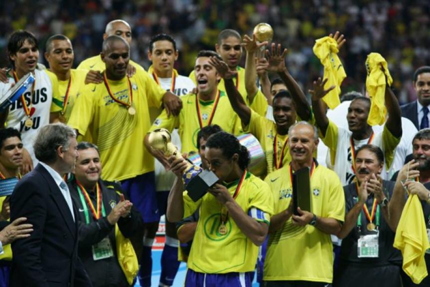 Brasil campeão da Copa das Confederações 2005 (foto:AFP)