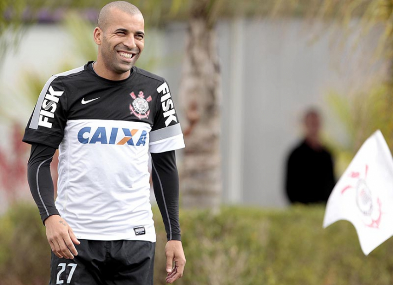 Emerson Sheik - Treino do Corinthians (Foto: Miguel Schincariol/LANCE!Press)