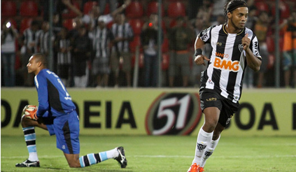 Atlético-MG x Grêmio - Campeonato Brasileiro - Ronaldinho (Foto: Gil Leonardi/LANCE!Press)