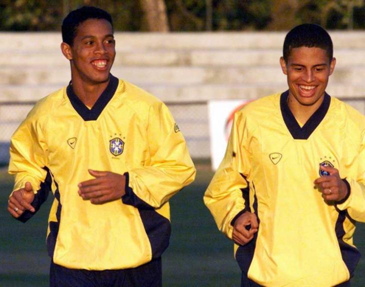 Mesmo ao lado de Ronaldinho, Alex fracassou com o Brasil na Olimpíada de 2000