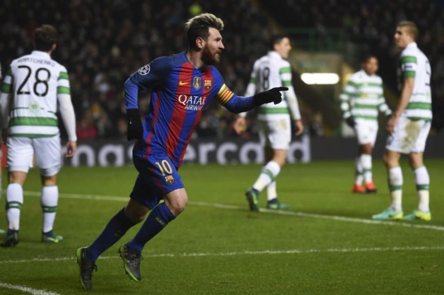 Messi - Celtic x Barcelona