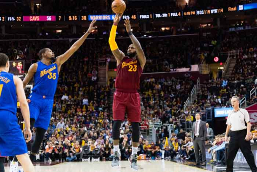 Cleveland Cavaliers x Golden State Warriors - LeBron James e Kevin Durant