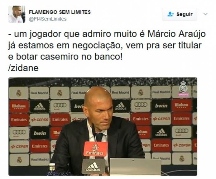 3e98c05554a38 Rubro-negros brincam com boa fase de Márcio Araújo  veja memes