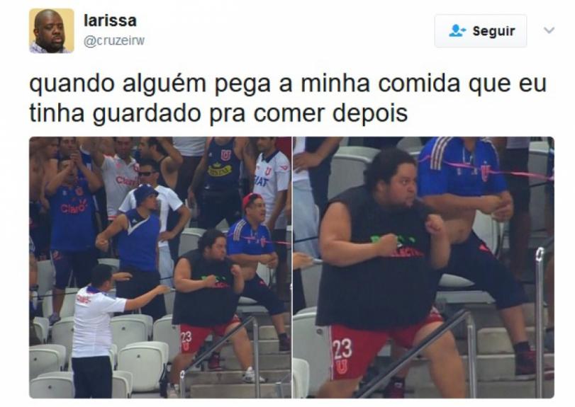 Gordinho do Chile tenta puxar briga com torcida do Corinthians e ...