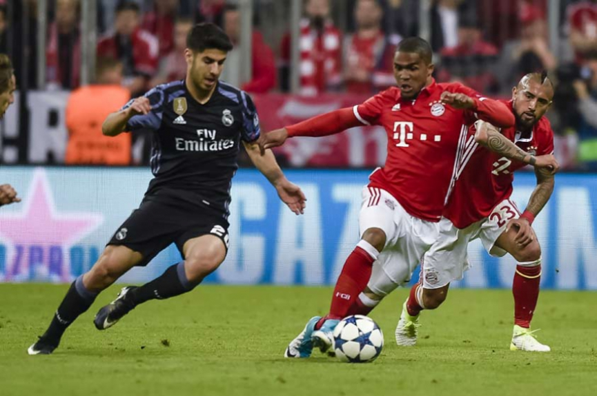 Asensio e Douglas Costa - Bayern de Munique e Real Madrid