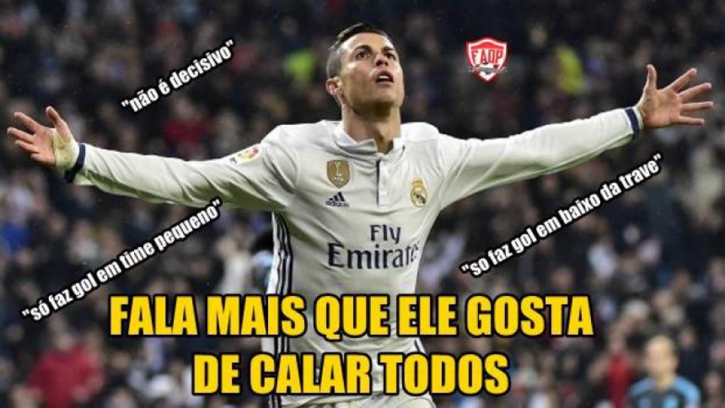 Memes brincaram com os 3 gols de CR7 e a freguesia do Atlético de Madrid 6aeb6e687eb24