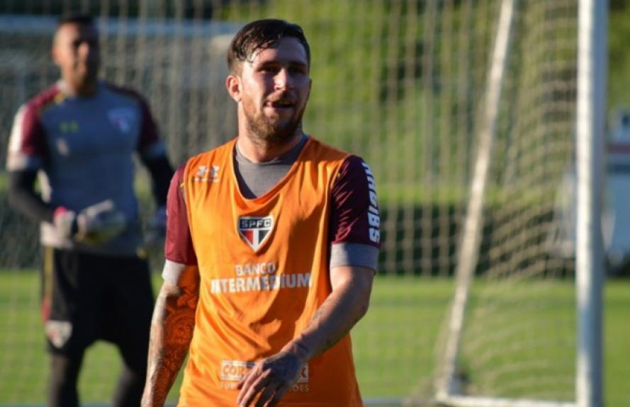 Arboleda e Jonatan Gomez treinaram com Rogério Ceni pela primeira vez (foto: Érico Leonan / saopaulofc.net)