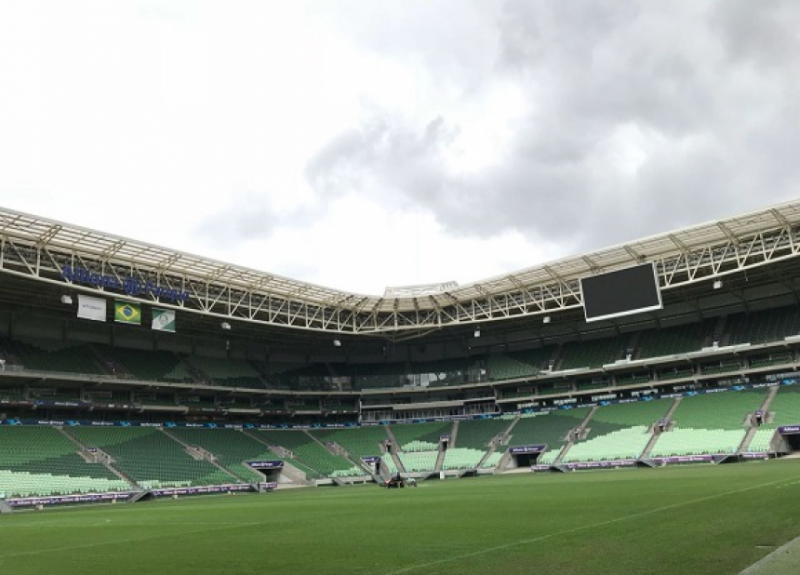 Gramado do Allianz Parque neste domingo (2)