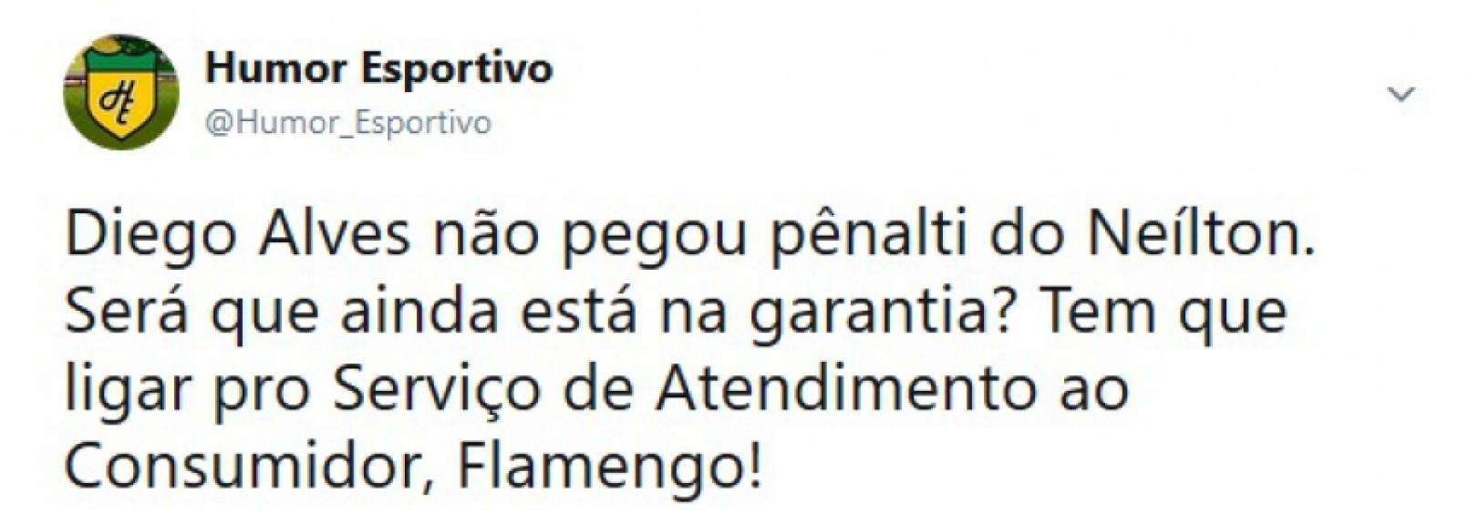 Internautas zoam Diego Alves após goleiro levar gol de pênalti de ... ade78c71c2da8