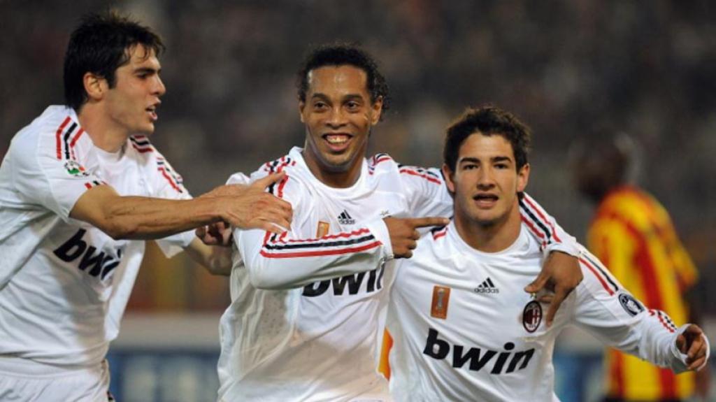 trio Kaká, Pato e Ronaldinho - Milan