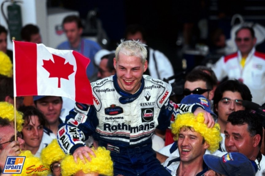 Jacques Villeneuve foi campeão da Fórmula 1 com a Williams