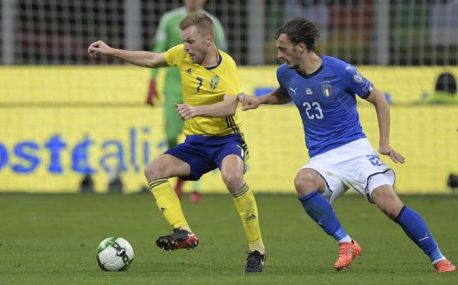 Gabbiadini e Larsson - Itália x Suécia