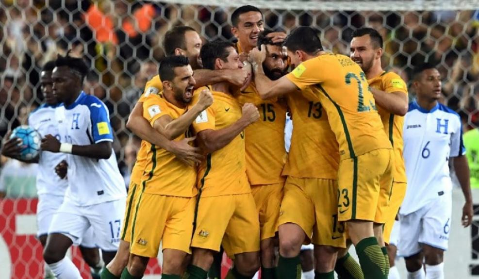 Austrália comemora vaga na Copa do mundo de 2018