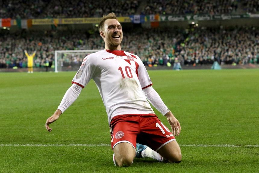 6c6851e049157 O atacante Christian Eriksen do Tottenham fez três gols na goleada de 5 a 1  sobre