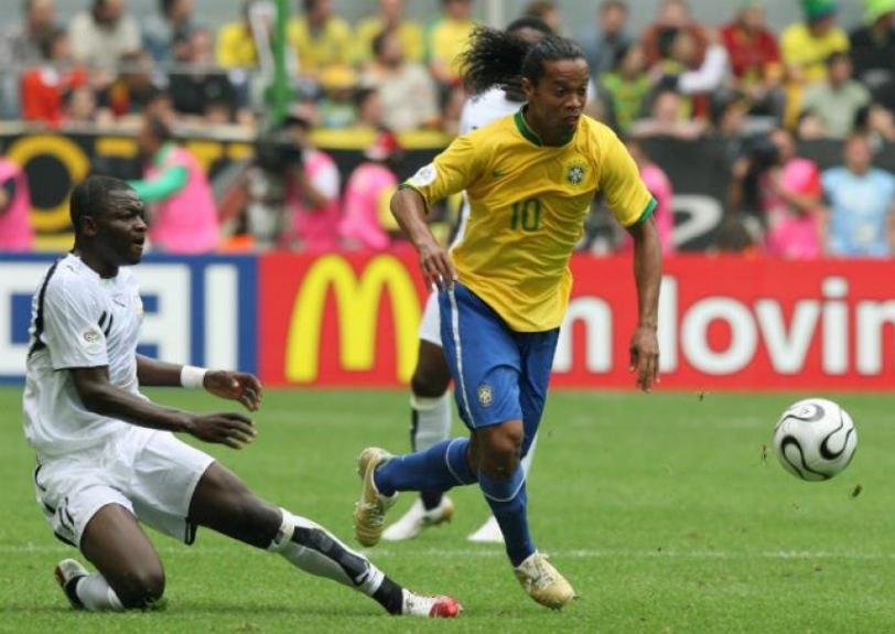Ronaldinho na Copa de 2006 (Foto: John MacDougall/AFP)