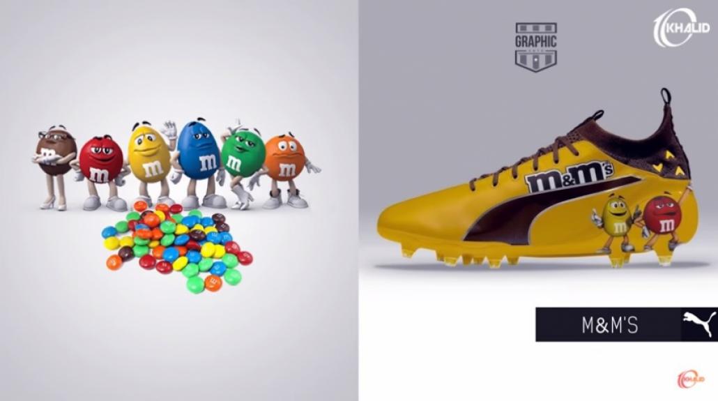 8a0d1c5444 Chuteiras são personalizadas com marcas famosas e os resultados são ...