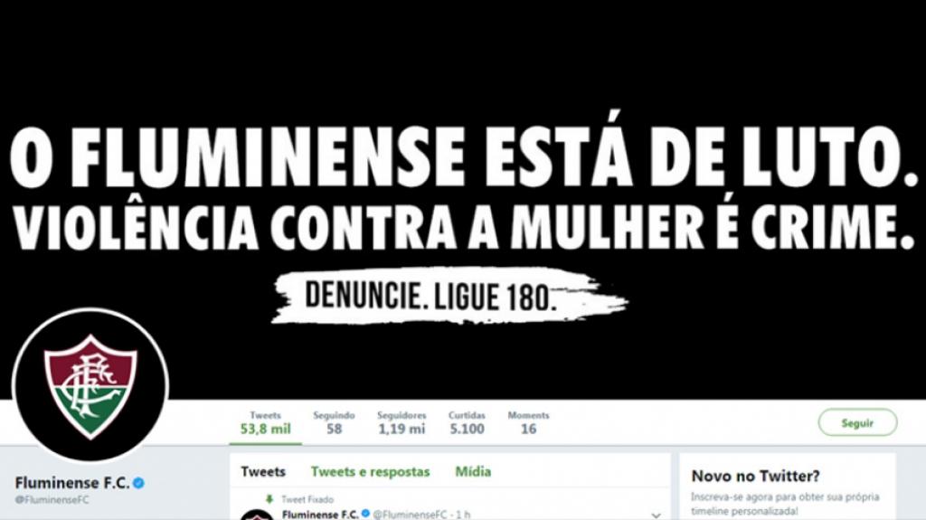 O Fluminense divulgou uma nota oficial decretando luto pelo combate à  violência contra a mulher. O clube também jogou com faixa preta no clássico  contra o ... 65077c24ddd61
