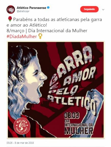 Clubes prestam homenagens ao Dia Internacional da Mulher  confira ... 4c8cd988fee89