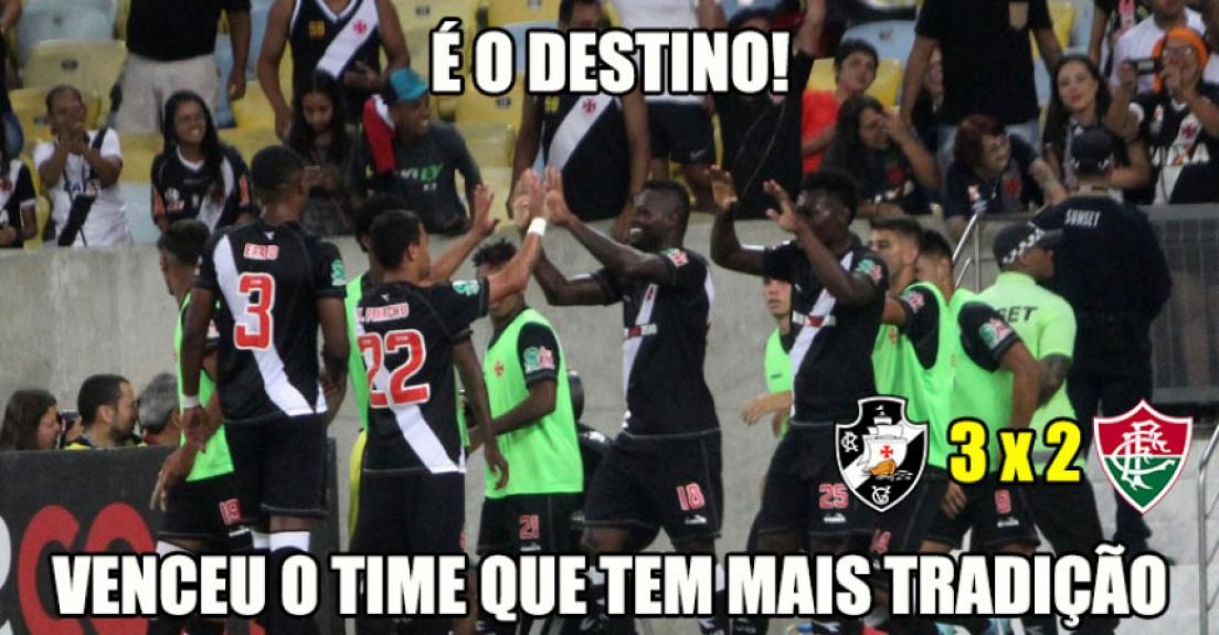 Os memes da vitória e classificação do Vasco diante do Fluminense d4705af1019ea
