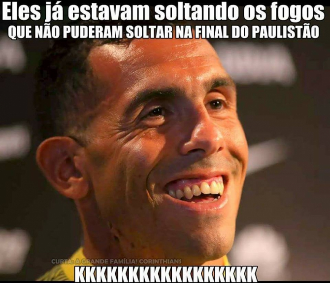 Gol de Tevez no Allianz Parque rendeu memes da torcida do Corinthians