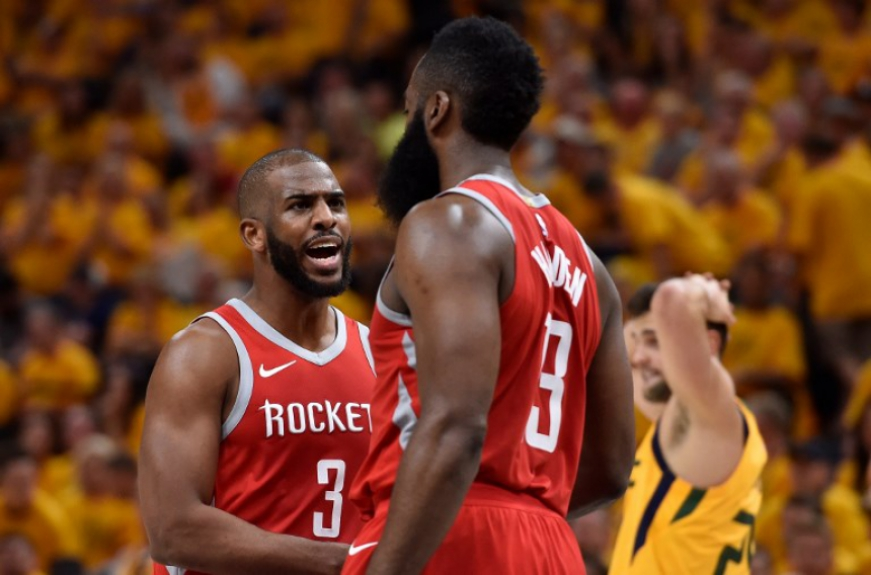 Chris Paul e James Harden, do Houston Rockets