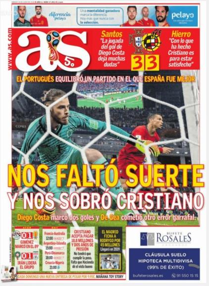 Show de CR7 é destaque nas capas de jornais ao redor do mundo  e37809f8fe582
