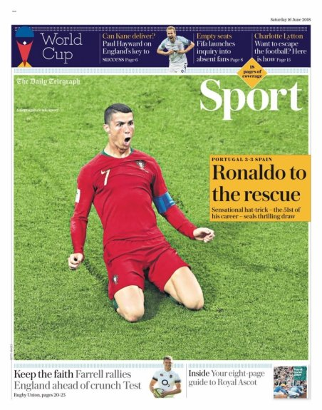 Capa - The Daily Telegraph