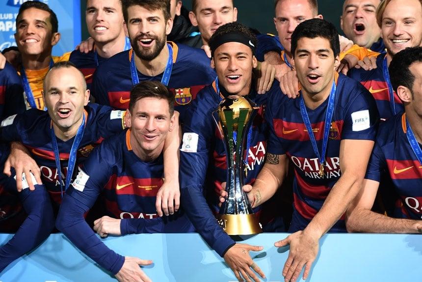 Messi já conquistou um total de três títulos do Mundial de Clubes da Fifa. O 967237e207b2c